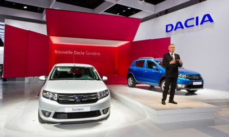 dacia presente ses nouvelles dacia logan sandero au mondial de l 39 auto 2012 blog auto carid al. Black Bedroom Furniture Sets. Home Design Ideas