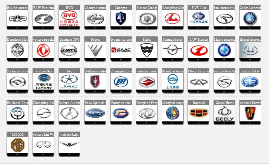 Marque De Voiture >> Marques De Voiture Chinoise Les Constructeurs Blog Auto Carideal