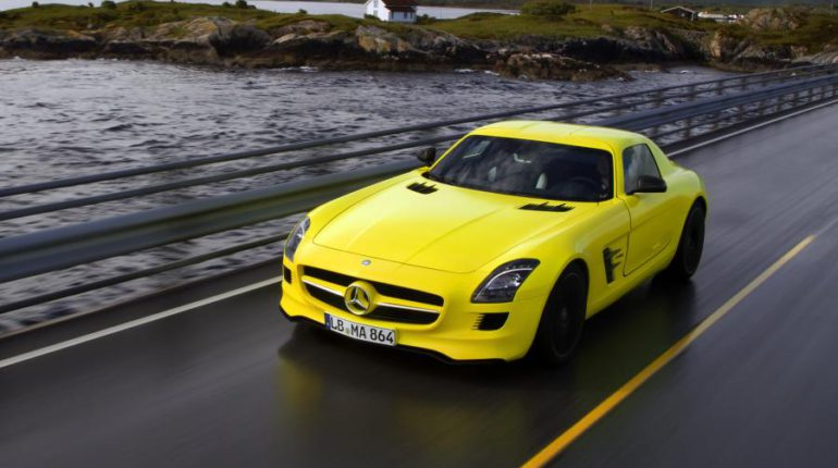 Mercedes-Benz SLS e-Cell supercar électrique