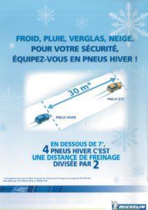 Promotion pneu hiver même en Michelin