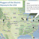 Electric Odyssey Pour réussir cette traversée ils ont besoin de trouver des personnes sur notre trajet qui accepte de nous prêter leur prise électrique