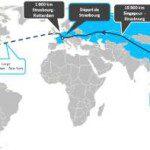 La carte du tour du Monde en voiture électrique de Electric Odyssey