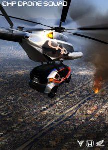 Honda Drone aérien de voiture de police pour 2025