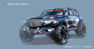 Mercedes Benz energforce voiture de police 2025