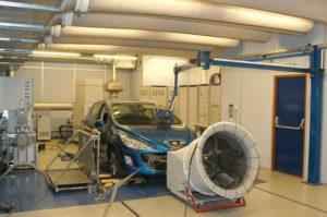 Norme Euro 6 Essai sur Banc. Vehicule sur banc à rouleau / Test de consommation.