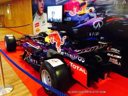 Formule 1 red Bull à Courchevel
