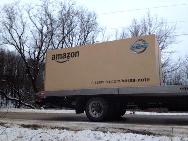 Nissan livre une Note avec Amazon