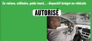 Kit main libre intégré au véhicule autorisé