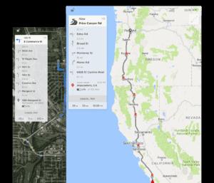 Carte GPS Zoomable Trip Planer Tesla