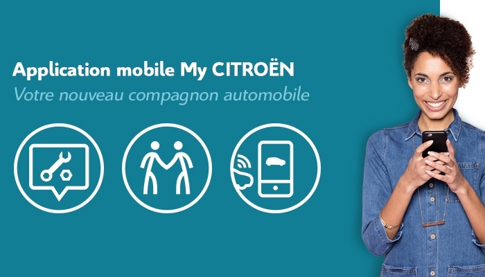 My Citroen application mobile pour l'entretien et la révision de votre Citroen
