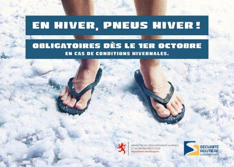 Campagne pneu neige au Luxembourg