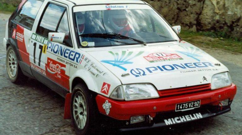 Rallyes asphaltes ou rallye terre, la Citroen AX Sport occupe tous les terrains ici sur le rallye du Portugal