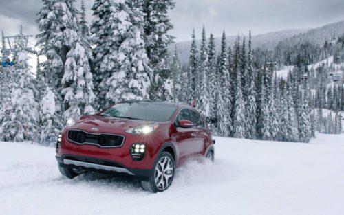 Kia Sportage 2017 dans la neige