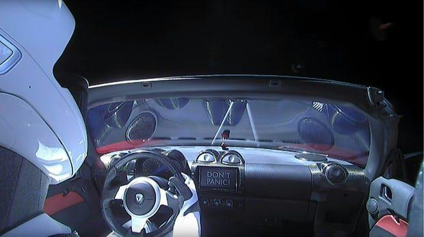 Don't Panic Tesla en route pour Mars
