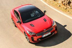 Kia Stinger GT berline sportive rouge