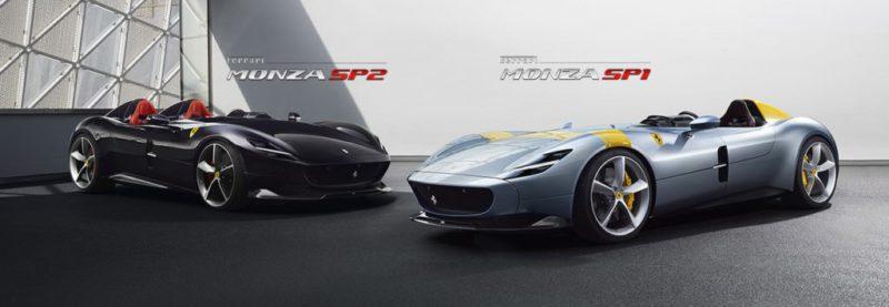 Le dernier cabriolet de Ferrari roule à 300 km/h et n'a pas de pare-brise Ferrari SP1 et SP2