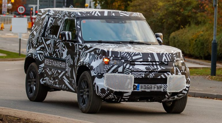 Photos «spyshot» de Land Rover Defender 2018