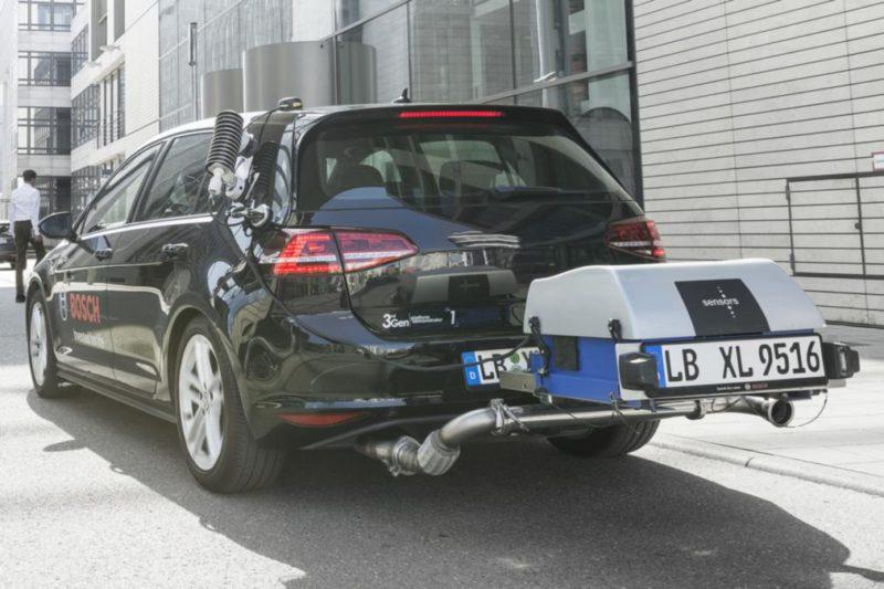 Test emission de pollution : La nouvelle technologie Bosch de moteur diesel propre réduit considérablement les émissions de NOx diesel
