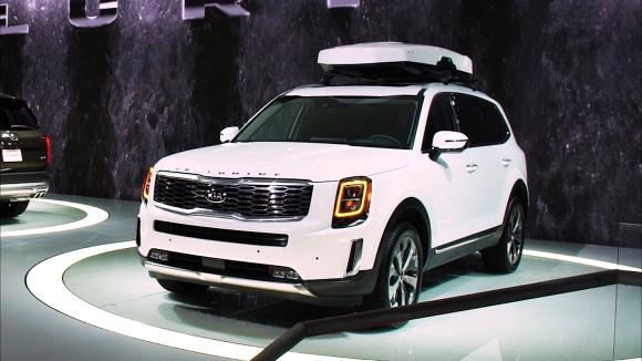 Le Kia Telluride présenté au Salon de l'automobile de Detroit 2019 crédit photo consumer reports