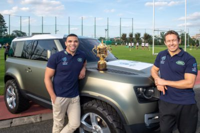 Land Rover Defender 90 - Bryan Habana et Johnny Wilkinson