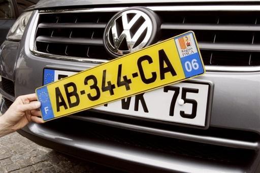 Nouvelle législation sur l'immatriculation des voitures